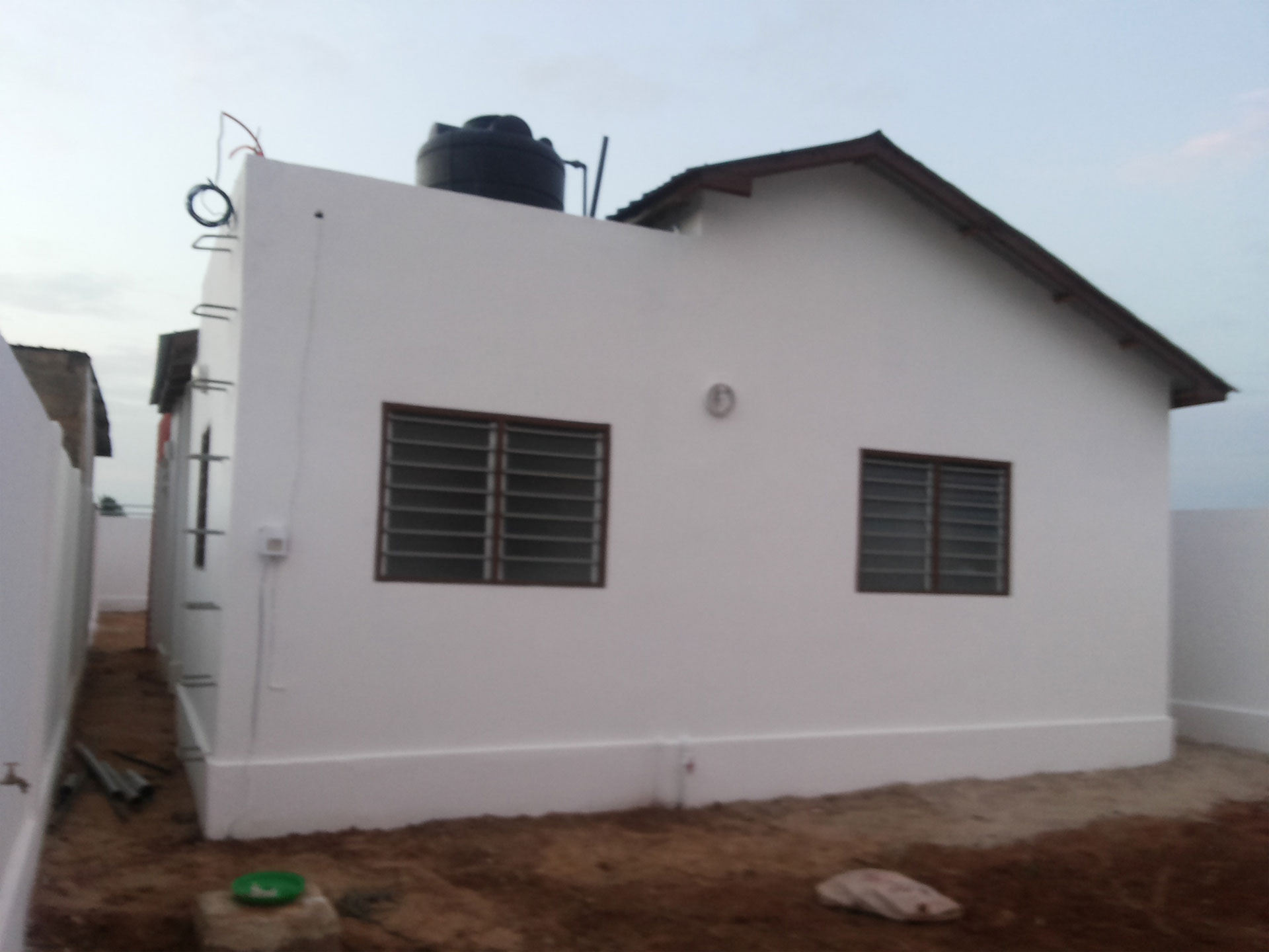 construction d'une villa pour le jeu MOOV CONSO
